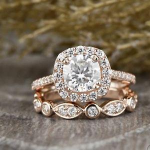 Jewelry - Dazzling 925 Sterling Silver SET 18k Sapphire